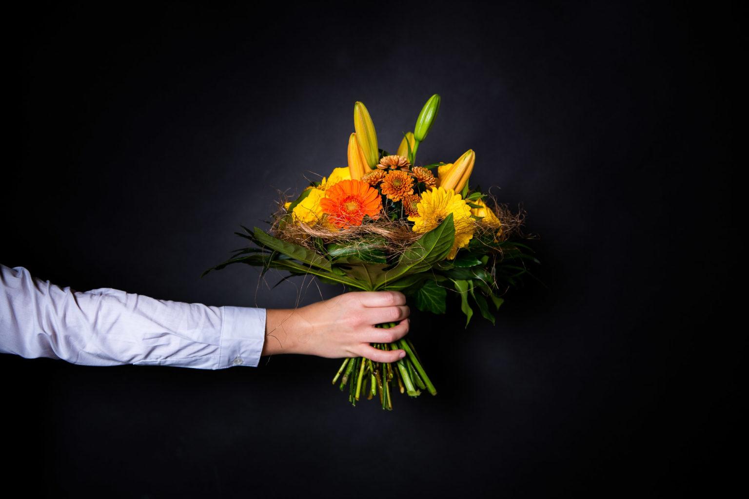 Ein bunter Strauss Blumen